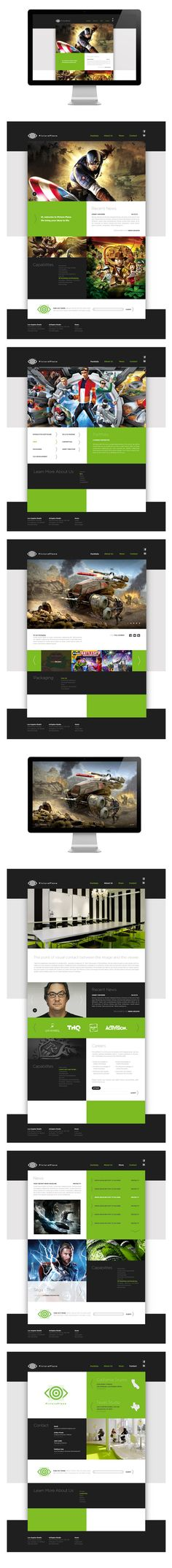PicturePlane Website Redesign by David Whaite, via Behance