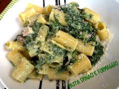 Pasta spinaci e formaggio