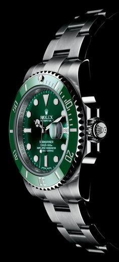 The Watch Quote: The Rolex Oyster Perpetual Submariner Date watch with black or green surface - citizen watches, invicta watches, buy wrist watch *ad