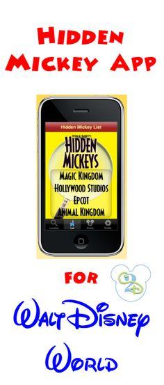 Download this Hidden Mickey app for Disney! My kids love finding Hidden Mickeys!
