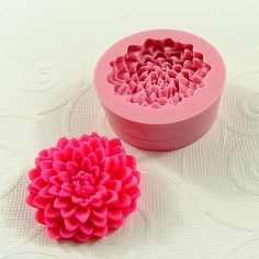 Chrysanthemum Casting Mold Cabochon Flexible Mini Mold/Mould (32mm) for Crafts, Jewelry, Chocolate, Fondant, Butter Pats (156)