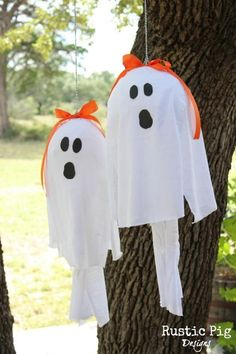 DIY Halloween Crafts : DIY Lantern Ghosts