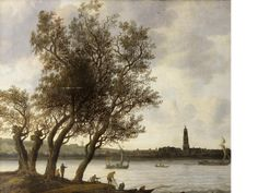 Anthony Jansz van der Croos (The Hague 1606-1662) View of Rhenen from the South Bank of the Nederrijn oil on canvas 83.6 x 100.5cm (32 15/16 x 39 9/16in).