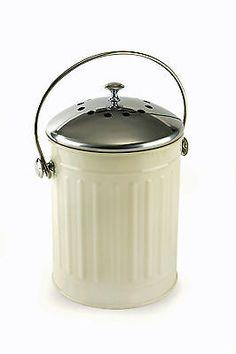 #Eddingtons cream deluxe compost pail bin bucket #caddy indoor #recycle worktop n,  View more on the LINK: http://www.zeppy.io/product/gb/2/191355200647/