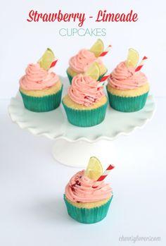 Strawberry Limeade Cupcakes