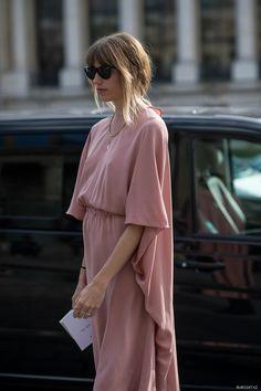 Veronika Heilbrunner looking stunning in a fluttery blush dress