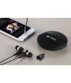 Zoook Rocker RDX In Ear Wearable Earphones with Mic (Black) Noise Cancelling, Headphones, Product Launch, Ear, Purses, Stuff To Buy, Black, Handbags, Headpieces