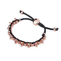 Women Bracelets, 18ct Rose Gold Vermeil Skull Friendship Bracelet, Official Links of London