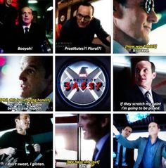 "Coulson is sooo sassy. When he said ""prostitutes, plural?"" I couldnt stop laughing!"