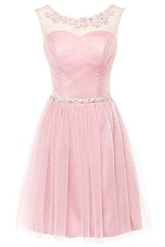 Erosebridal Kurz Brautjungfernkleid Spitze Appliques Perlen Ballkleid Rosa  DE46  Amazon.de  Bekleidung Perlen 937ae98fc6
