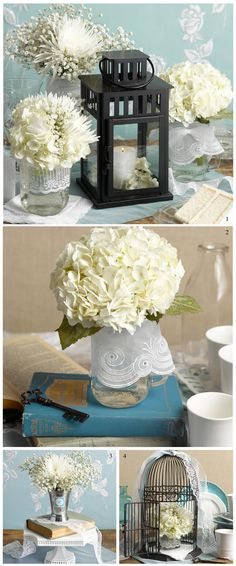 It's Vintage Week! Get vintage-inspired ideas for your wedding reception centerpieces.