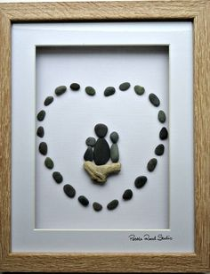 Pebble Art Nana Love Grandmother Grandma Gift by PebbleRoadStudio
