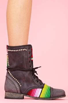 Taco Combat Boot   $178 nastygirl.com  I'll figure out a way to justify these eventually...