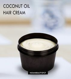 DIY Coconut Oil Hair Cream for softer, smoother hair and melt split ends