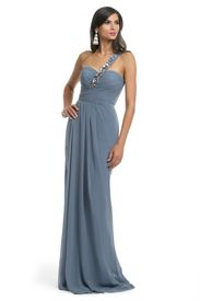 Avio Blue Chiffon Gown @becca d