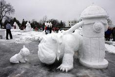 Hat euch der Winter auch endlich erreicht? Dann ab nach draußen in den Schnee und los geht's! Hier sind 12 coole und kreative Ideen für eure eigenen tierischen Schnee-Skulpturen zum Nachbauen!