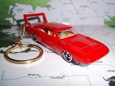 CUSTOM MINT KEYCHAIN 1970 DODGE DAYTONA SUPERBIRD,RED W/CHROME MAGS #HotWheels #Dodge Gr8 DEAL!