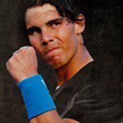 Rafael Nadal is powerful.