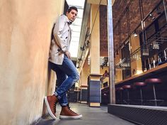 Falling in love with Chuck Taylors? We can't blame you! Men Boots, Fall Winter, Autumn, Urban Chic, City Style, Converse Chuck, Smart Casual, Blame, Chuck Taylors