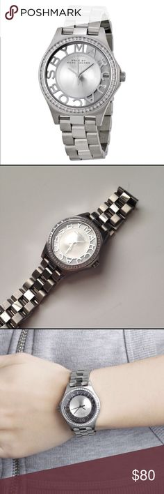 Marc Jacobs Silver Stainless-steel quartz watch‼️ Only worn a few times! Has a tiny little scratch that you can barely see. Comes with original box, tags and extra links. Make an offer!!! NO TRADES Marc by Marc Jacobs Accessories Watches