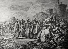 Christ's earthly ministry in the Phillip Medhurst Bible 148 of 550 The Pharisees blame the disciples for eating with unwashed hands Mark 7:1-7 Luyken on Flickr. A print from the Phillip Medhurst Collection at St. George's Court, Kidderminster.