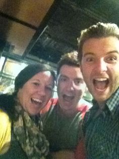 Keith, Emmet and CT's production assistant Angela, in Kansas City - keith-harkin Photo