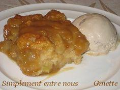 Simplement entre nous: Pouding aux pommes et sucre à la crème Creme, Strudel, C'est Bon, Dessert Recipes, Chicken, Food, Delicious Desserts, Kitchens, Drink