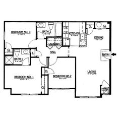 2 bedroom house plans 1000 square feet | home plans homepw26841