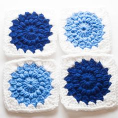 Sunburst Granny Squares | Thrifty Below