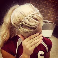 Headband braid. If I was any good at all the hair stuff, I'd do this.