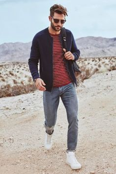 New outfit inspiration from Next. Texture, stripes and roll up jeans with some white sport pumps. A great casual outfit for the week ahead.