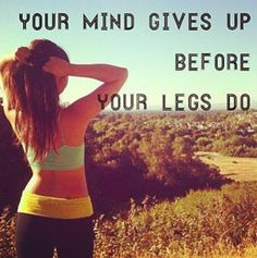 Work out motivation; so true!! experience taught me this