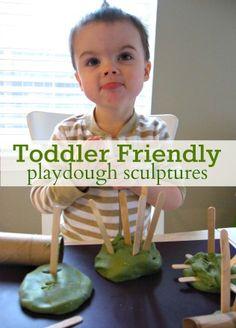Toddler Friendly Playdough Sculptures!