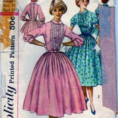 Simplicity Pattern 2126 Misses' And Misses' One-Piece Dress - Size 11 Bust 31 And A Half.  #sharpharmade