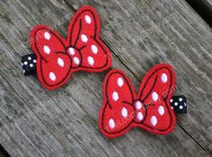 Minnie's Bowtique Inspired Hairclips Minnie by TheLoopsyDaisy, $7.95