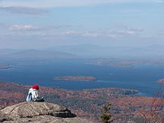 Lake Winnepesaukee, NH as seen from the top of Mt. Major.