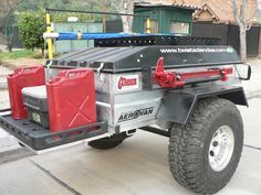 off road trailer - Google Search Off Road Camping, Jeep Camping, Expedition Trailer, Overland Trailer, Trailer Plans, Trailer Build, Pet Trailer, Trailer Kits, Off Road Camper Trailer