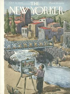 The New Yorker - Saturday, October 20, 1945 - Issue # 1079 - Vol. 21 - N° 36 - Cover by : Alan Dunn