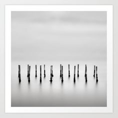 Multiple sticks standing in lagoon water. Art Print by kostaspavlis Water Printing, Printing Process, Water Art, From The Ground Up, Buy Frames, All Over The World, Sticks, Gallery Wall, Art Prints