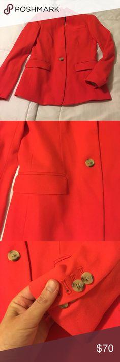 J crew blazer Red wool j crew regent blazer. Worn a few times, like new condition. J. Crew Jackets & Coats Blazers