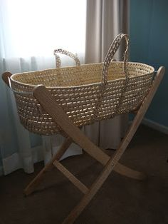 Homemade Baby-Bed with Moses Basket