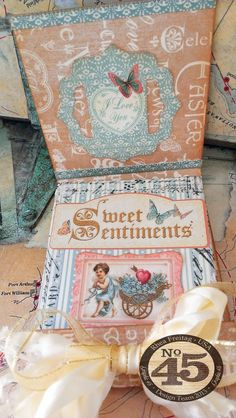What a beautiful Sweet Sentiments matchbook album! Click to see the tutorial from Rhea #graphic45
