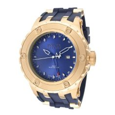 Invicta Men's 12032 Subaqua Reserve GMT Dark Blue Dial Navy Rubber Watch Invicta. $232.31. Swiss quartz movement. Water-resistant to 500 M (1640 feet). Dark blue dial with navy blue and white hands and hour markers; luminous; screw-down crown; GMT function. Flame-fusion crystal; 18k rose gold ion-plated stainless steel case; navy blue rubber strap with 18k rose gold ion-plated stainless steel barrel inserts. Date window at 3:00. Save 85% Off!