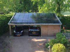 Carport met zonnepanelen en schuur in Diepenveen