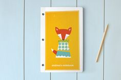 Foxy Day Planner, Notebook, or Address Book by nocciola design at minted.com