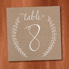 Instant Download Kraft Paper Table Numbers 1-25, Rustic Wedding Ideas, Laurel Branch Table Numbers, diy table numbers by VeronicaFoleyDesign on Etsy https://www.etsy.com/listing/167526348/instant-download-kraft-paper-table
