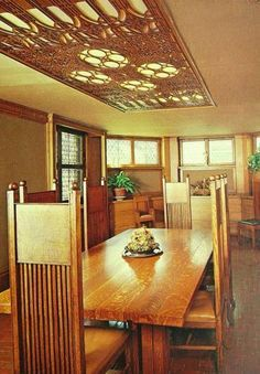 Wright Residence Oak Park IL interior dining room