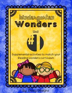 Kindergarten Reading Wonders - Unit 1