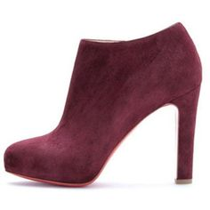 Christian Louboutin  Vicky Booty 120mm Ankle Boots Plum being unfaithful limited offer,no taxes and free shipping.#shoes #womenstyle #heels #womenheels #womenshoes  #fashionheels #redheels #louboutin #louboutinheels #christanlouboutinshoes #louboutinworld