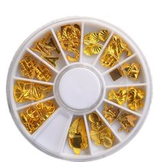 Gold Sea Designs Shell Leaf Tower Metallic >>> To view further for this item, visit the image link.